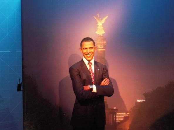 Barack Obama på Madame Tussauds i Berlin