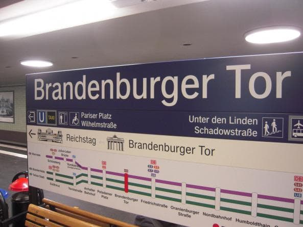 Tunnelbanestation vid Brandenburger Tor