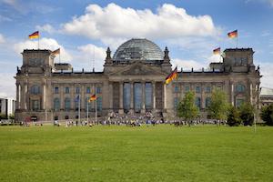 Bild på Riksdagshuset i Berlin