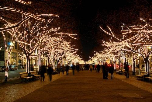 Unter den Linden under julen i Berlin