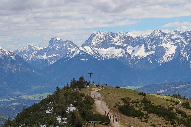 Berget Wank Mountain utanför München