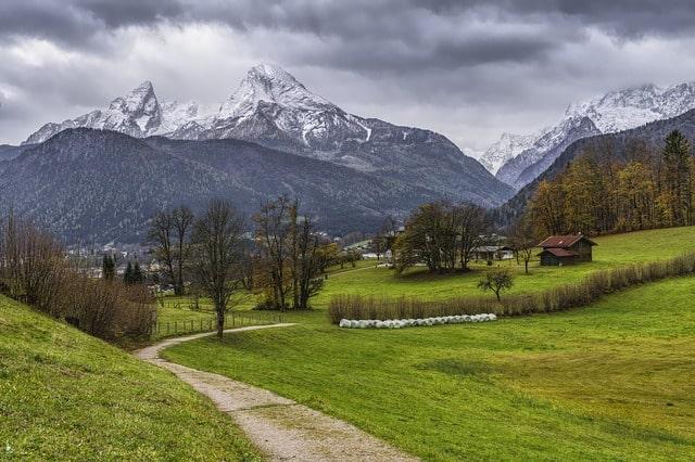 Berget Watzmann i de Bayerska alperna nära Berchtesgaden