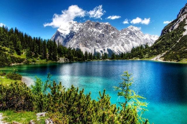 Berget Zugspitaze