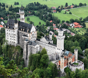 Bild på slottet Neuschwanstein