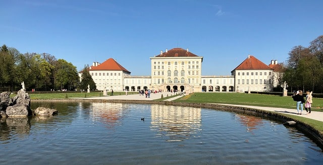 Bild på slottet Nymphenburg